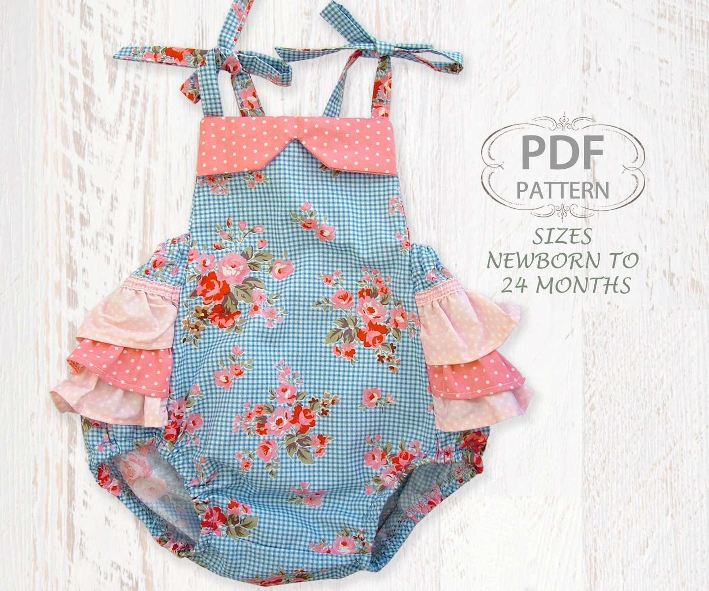 Baby Clothes Patterns Unique Baby Sewing Pattern for Romper Pdf Sewing Pattern for Baby Of Wonderful 46 Pictures Baby Clothes Patterns
