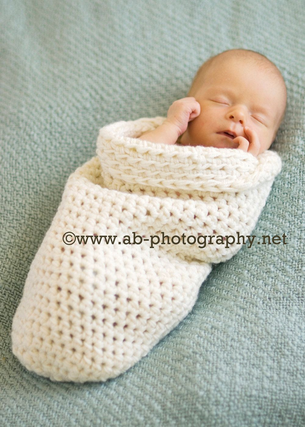 Newborn Cocoon crochet baby cocoon cream natural
