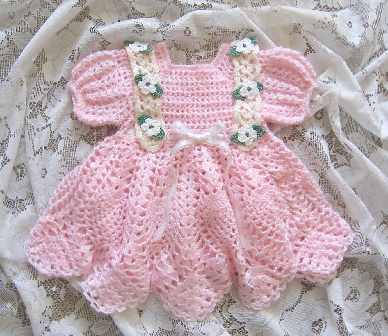 """CROCHET PATTERN for """"Baileigh"""" Baby Dress by REBECCA LEIGH"""