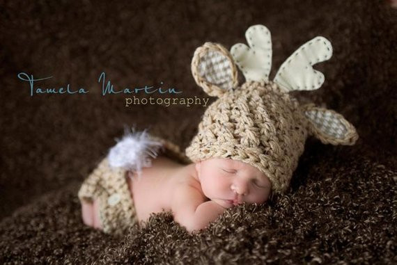 Baby Deer Hat Luxury Baby Boy or Girl Deer Hat and Diaper Cover Set by Knittymomma Of Top 50 Photos Baby Deer Hat