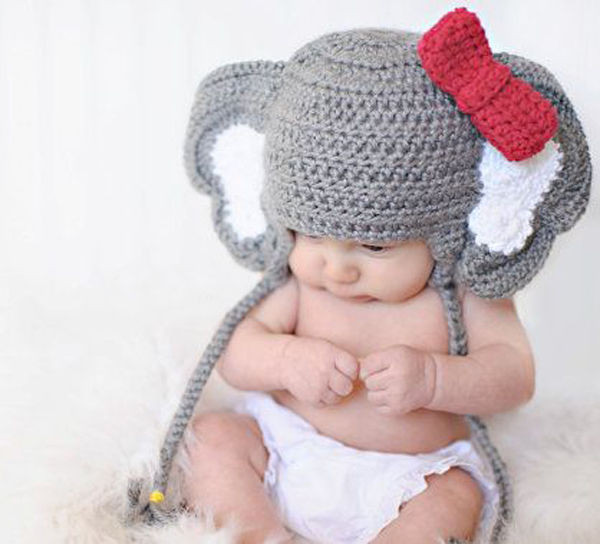 Baby Elephant Hat Beautiful Baby Animal Elephant Bowknot Prop Crochet Knitted Of Marvelous 45 Images Baby Elephant Hat