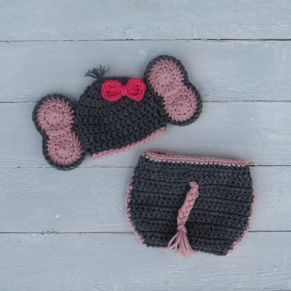 Baby Elephant Hat Beautiful Elephant Hat and Diaper Cover Baby Elephant Outfit Crochet Of Marvelous 45 Images Baby Elephant Hat