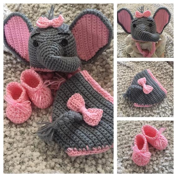 Baby Elephant Hat New Elephant Hat & Diaper Cover Crochet Baby Hat and Diaper Of Marvelous 45 Images Baby Elephant Hat