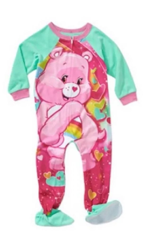 Baby Footed Pajamas Awesome New toddler Girls Care Bears Blanket Sleeper Footed Of Amazing 42 Pictures Baby Footed Pajamas