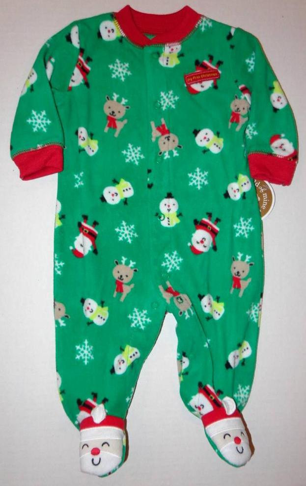 Baby Footed Pajamas Beautiful My First Christmas Infant Baby Boys 0 3 Month Footed Of Amazing 42 Pictures Baby Footed Pajamas