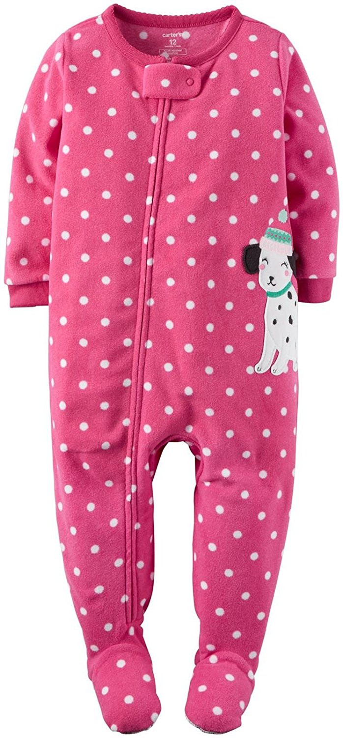 Baby Footed Pajamas Fresh Carter S Baby Girls 1 Piece Footed Fleece Pajamas Pj S Of Amazing 42 Pictures Baby Footed Pajamas