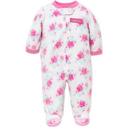 Baby Footed Pajamas New Little Me Flower Blanket Sleeper Fleece Kids E Piece Of Amazing 42 Pictures Baby Footed Pajamas
