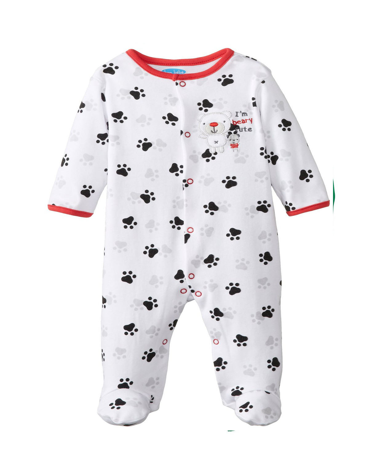 Baby Footed Pajamas New White Bon Bebe Baby Boys Newborn I M Beary Cute Footed Of Amazing 42 Pictures Baby Footed Pajamas
