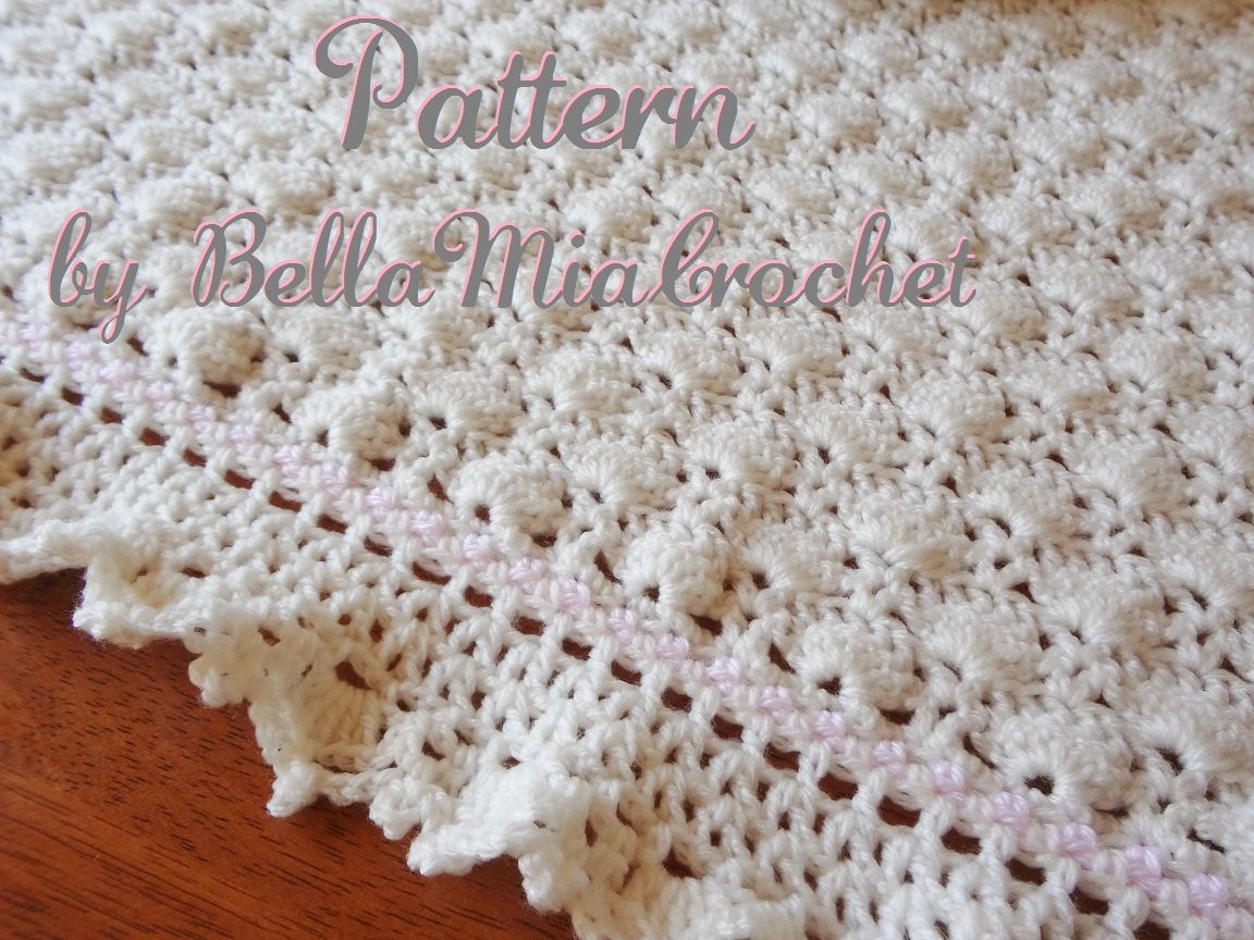 Baby Crochet Blanket Pattern Ruffled Lace Trim Eva