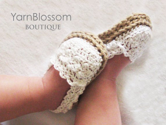 Espadrille Shoes CROCHET PATTERN PDF Instant Download baby