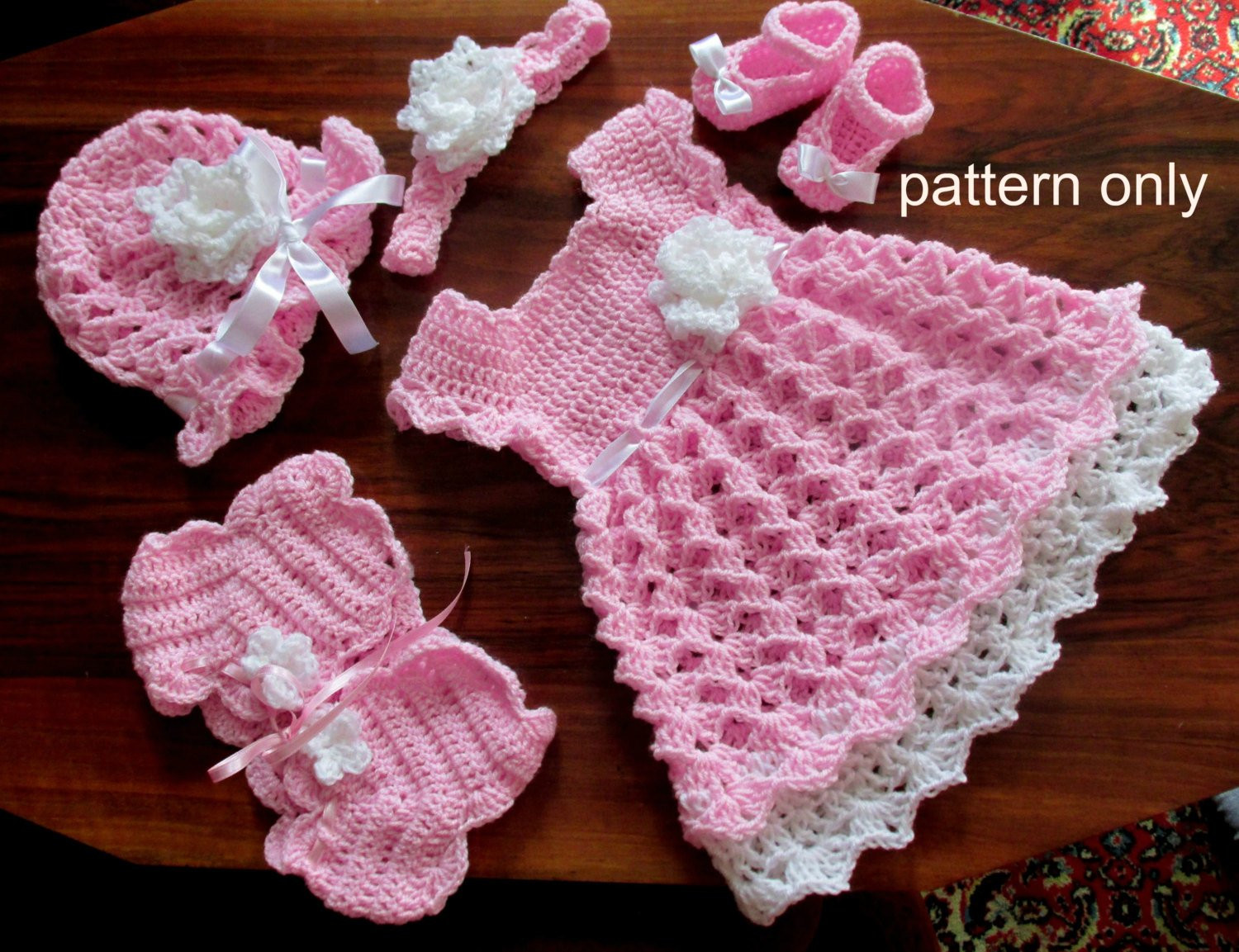 Baby Girl Crochet Patterns Unique Baby Dress Set Crochet Pattern Crochet Baby Dress Shrug Of Perfect 45 Models Baby Girl Crochet Patterns