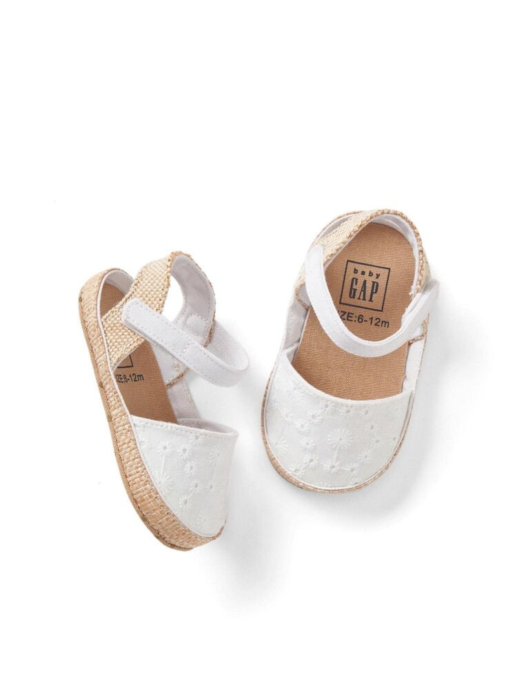 Baby Girl Sandals Fresh Gap Baby Girls Size 3 6 Months White Eyelet Espadrilles Of Lovely 44 Pictures Baby Girl Sandals