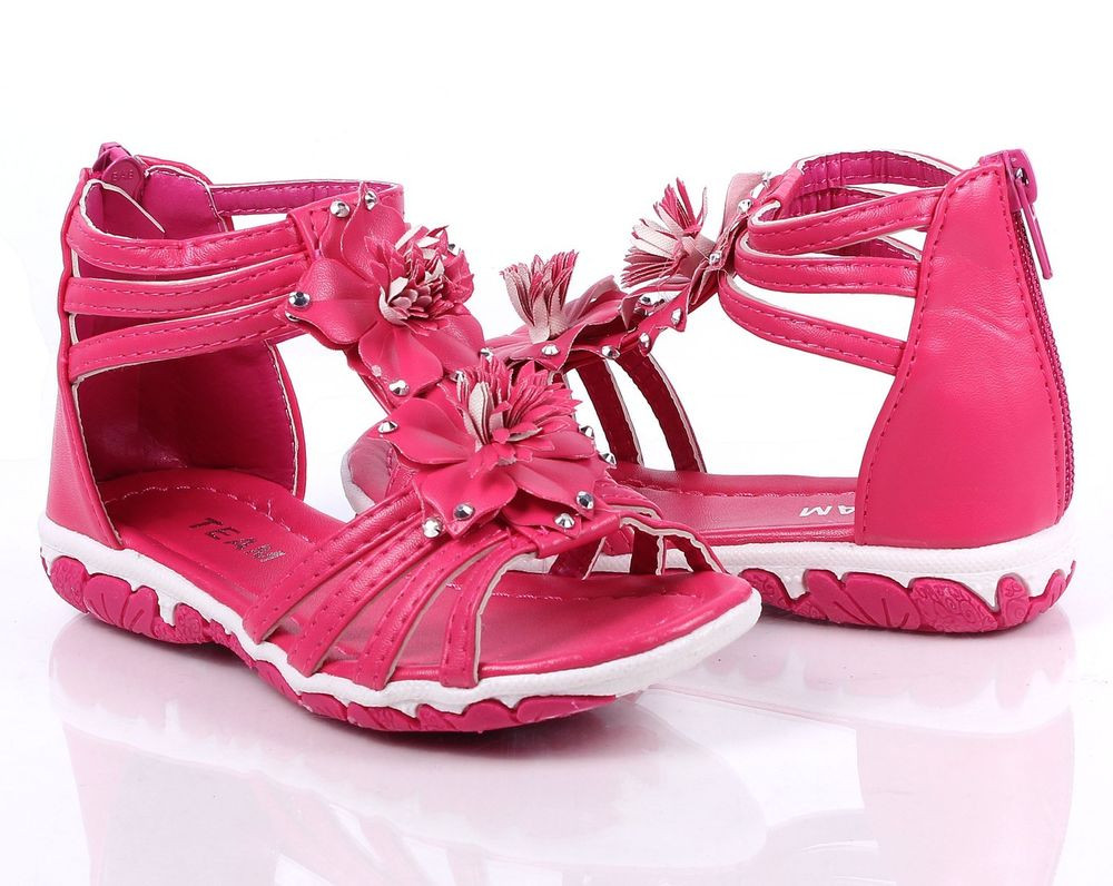Baby Girl Sandals New Fuchsia Cute Flowers toddlers Kids Girls Flats Infant Of Lovely 44 Pictures Baby Girl Sandals