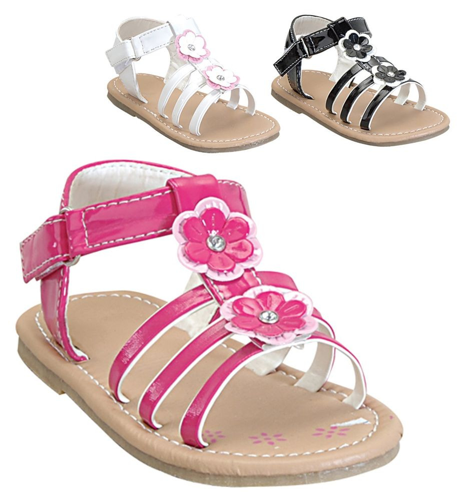 Baby Gladiator Sandals New New Baby toddler Girls Flower Strappy Gladiator Velcro Of Incredible 43 Photos Baby Gladiator Sandals