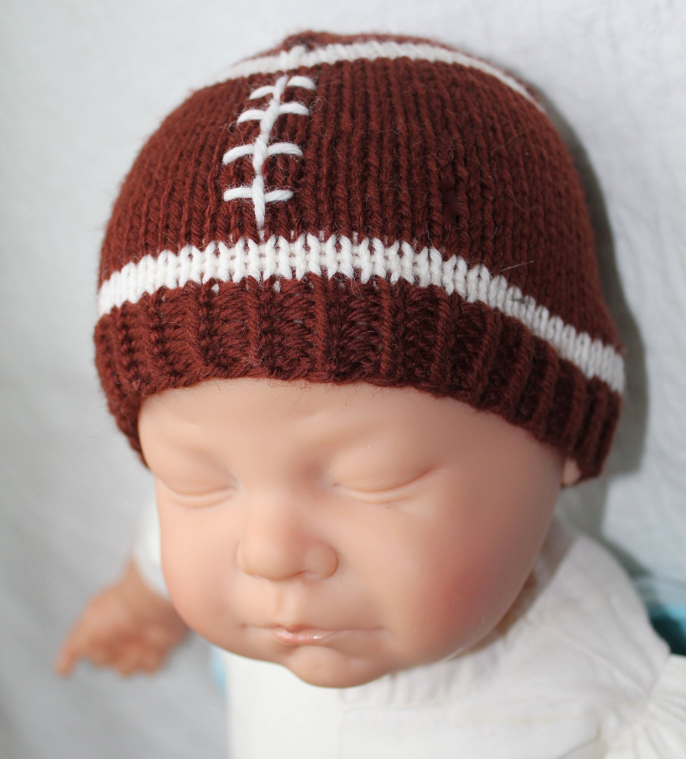 Baby Hat Knitting Pattern Luxury Knitting Pattern Football Baby Hat Size 0 to 3 and 6 to 12 Of New 44 Pictures Baby Hat Knitting Pattern