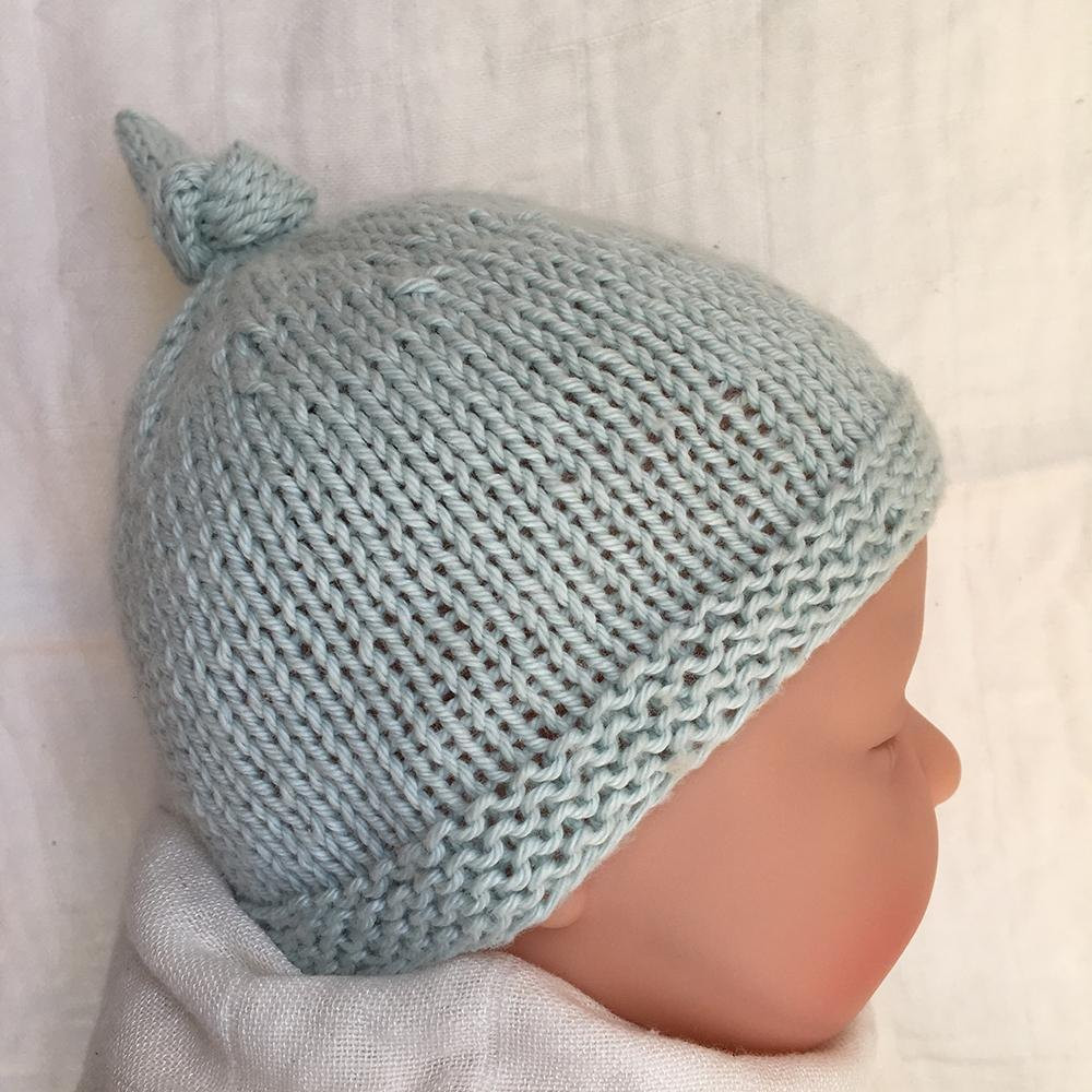 Baby Hat Pattern Unique Tegan Baby Hat with top Knot Knitting Pattern by Julie Taylor Of Lovely 49 Pics Baby Hat Pattern