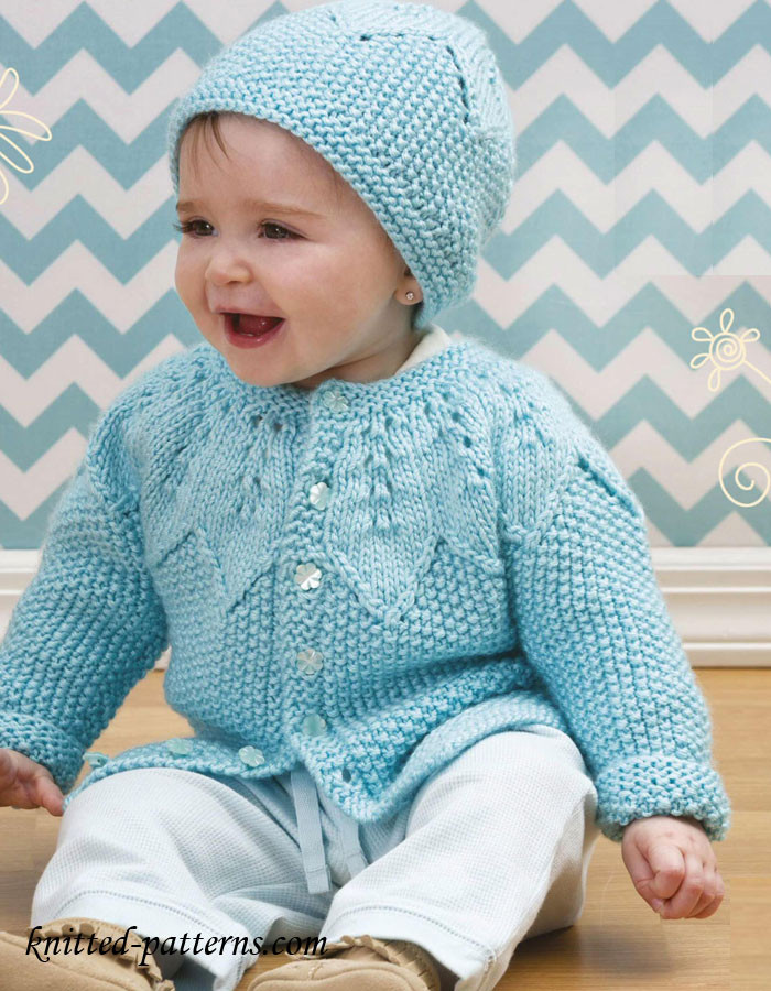 Baby Knitting Patterns Luxury Baby Cardigan and Hat Knitting Pattern Free Of Attractive 50 Models Baby Knitting Patterns
