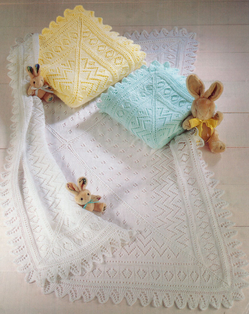 Baby Knitting Patterns Unique Lacy Baby Shawl Blanket Knit In 3 Ply 4 Ply or Dk Of Attractive 50 Models Baby Knitting Patterns