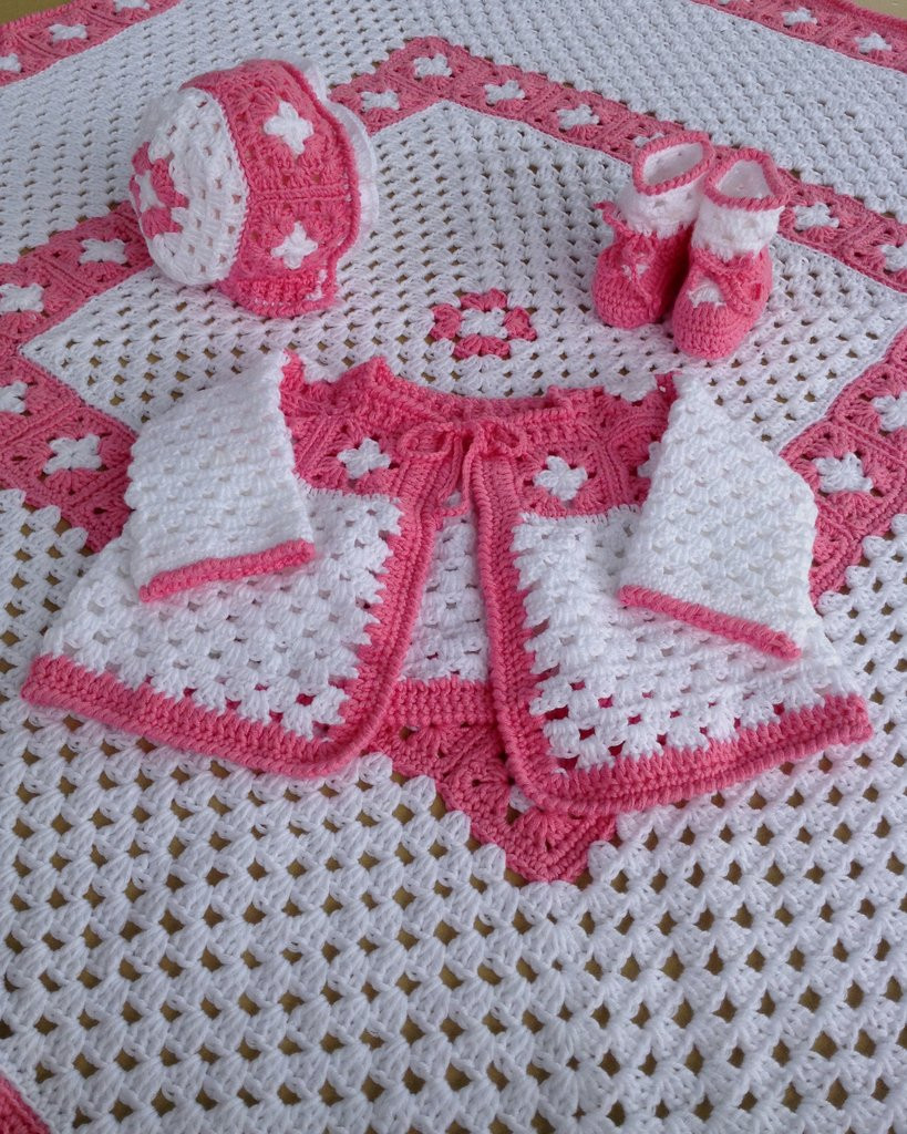 Baby Layette Crochet Patterns Beautiful Vintage Granny Square Layette Crochet Pattern – Maggie S Of Wonderful 45 Pictures Baby Layette Crochet Patterns