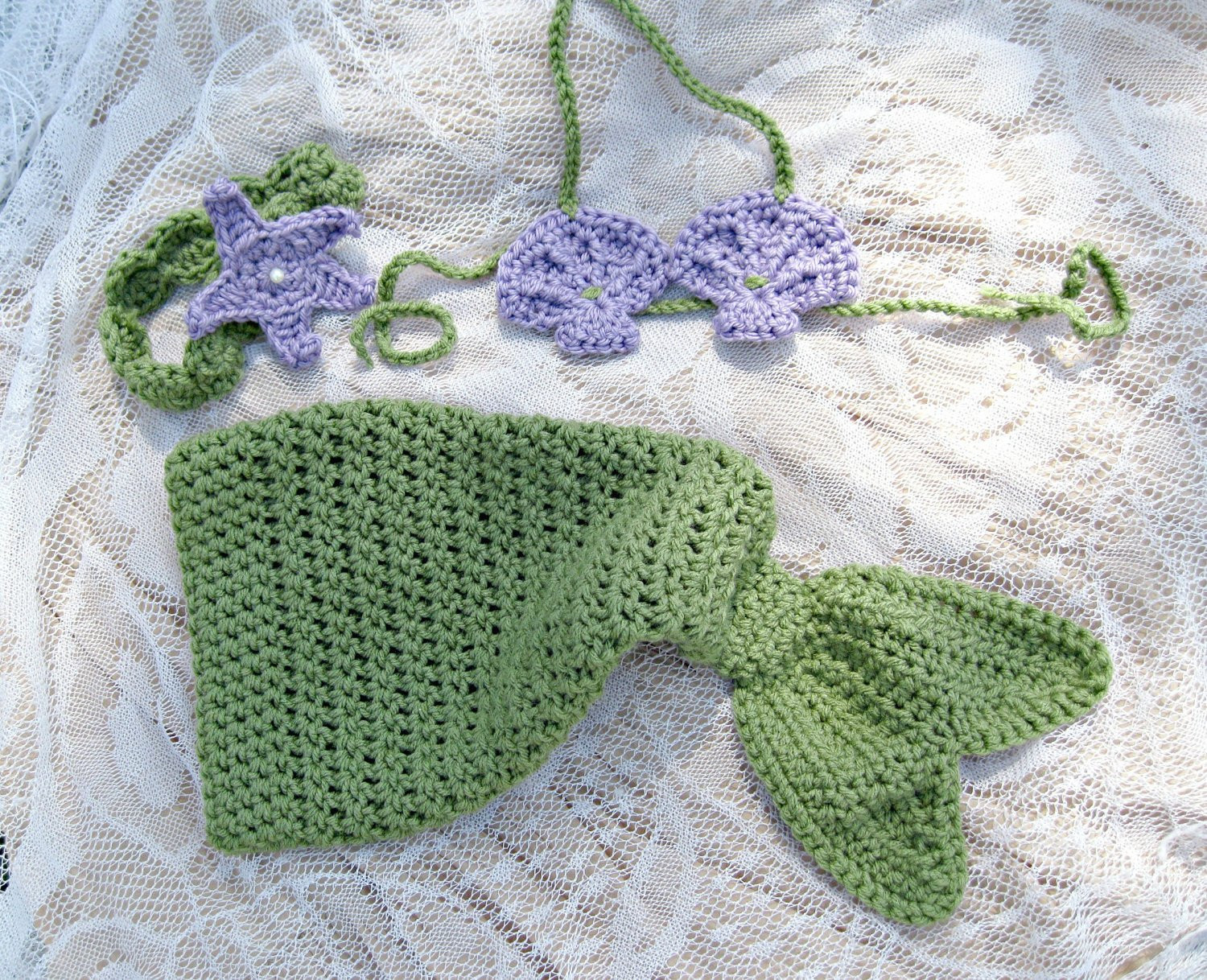 Crochet Mermaid Inspired Baby Girl Outfit Great graphy