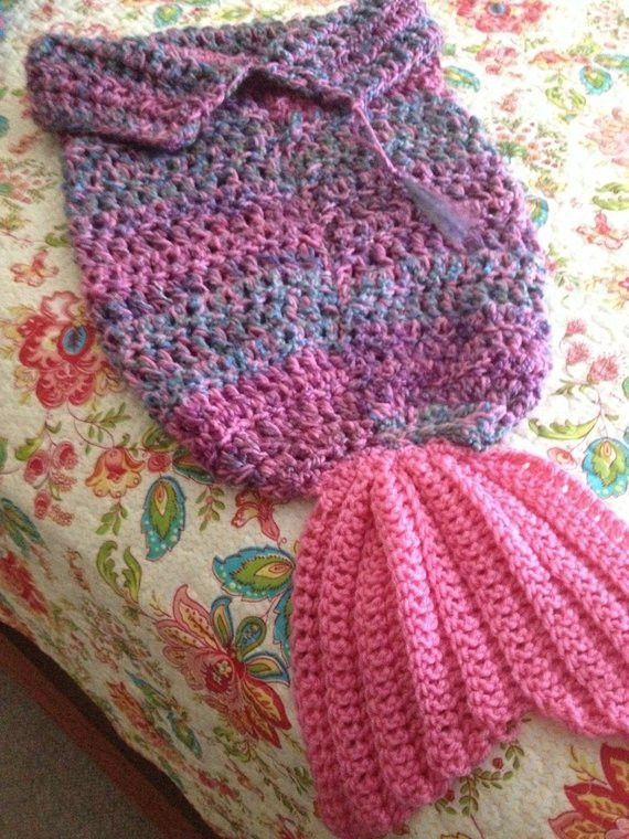 Ready to Ship Mermaid Tail Blankets Baby Mermaid Cocoon Baby