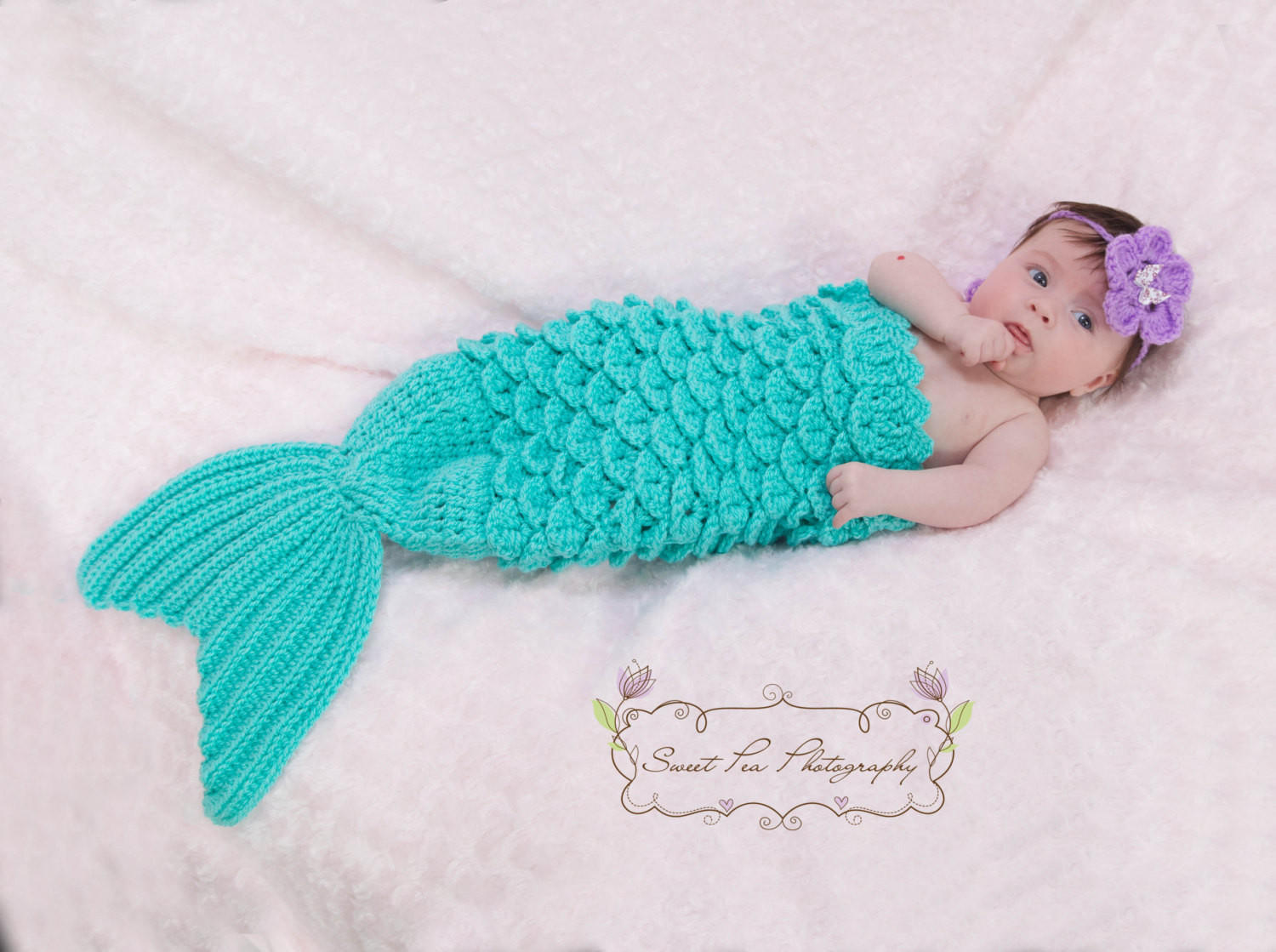 Baby Mermaid Tail Crochet Pattern Awesome Crochet Mermaid Tail & Headband Prop Instant Download Pdf From Of New 45 Photos Baby Mermaid Tail Crochet Pattern
