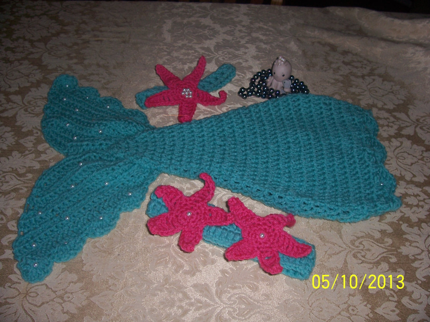 Baby Mermaid Tail Crochet Pattern Inspirational Crochet Baby Mermaid Patternincludes Starfish and Shell top Of New 45 Photos Baby Mermaid Tail Crochet Pattern