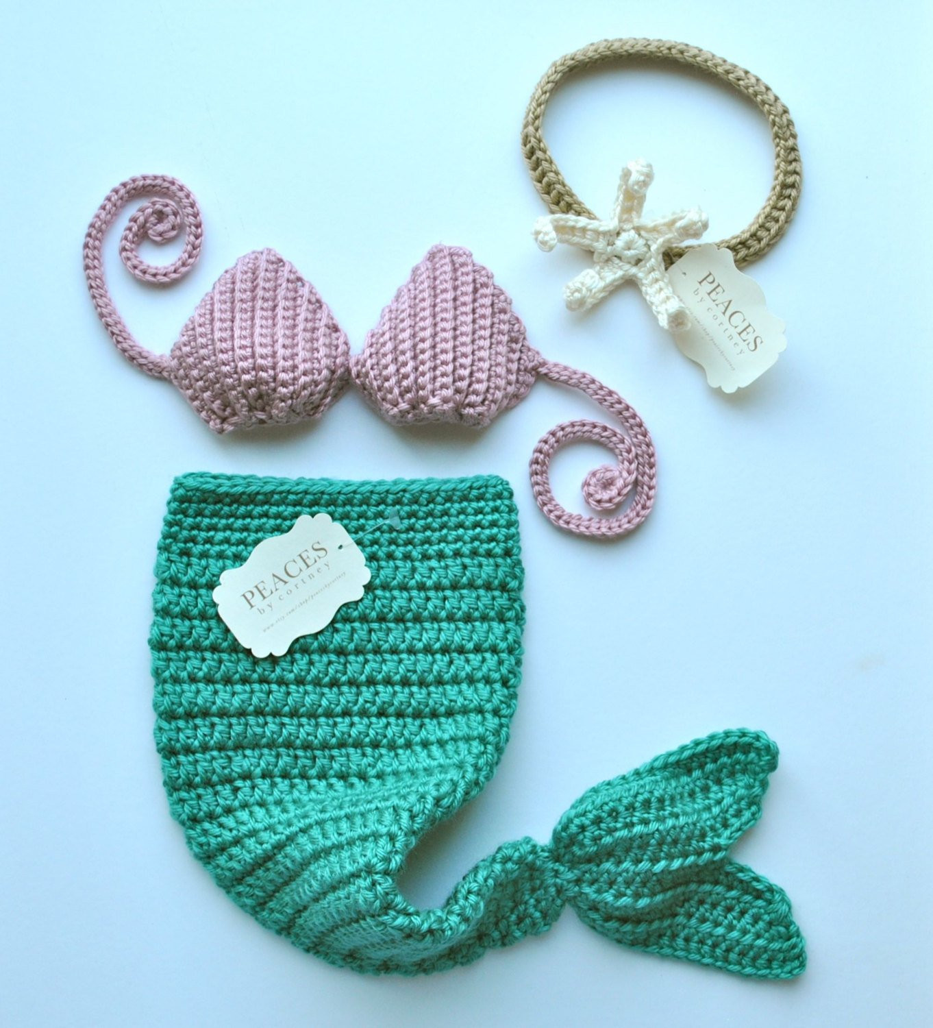 Baby Mermaid Tail Fresh Mermaid Tail Baby Prop Set with top & Starfish Headband Of Fresh 41 Pictures Baby Mermaid Tail