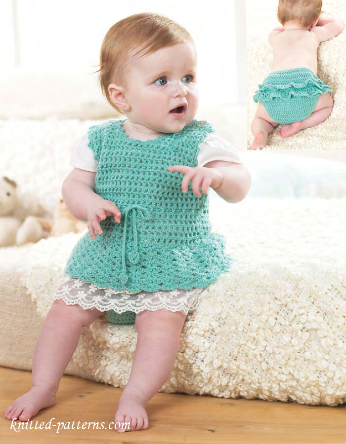 Baby Pinafore Dress Fresh Crochet Baby Set Pinafore Dress & Pants Of Gorgeous 48 Models Baby Pinafore Dress