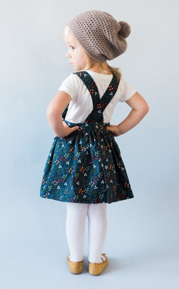 Handmade Floral Pinafore Dress