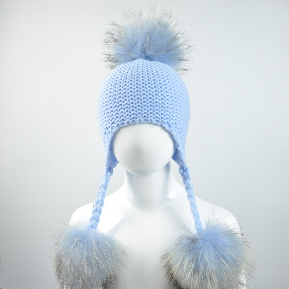 Baby Pom Pom Hat Unique Knitted Baby Hat with Three Real Fur Pompom Children Of Gorgeous 49 Models Baby Pom Pom Hat