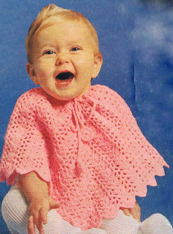 Baby Poncho Beautiful Baby Poncho Crochet Pattern Vintage Pdf T207 1970s Of Innovative 43 Photos Baby Poncho