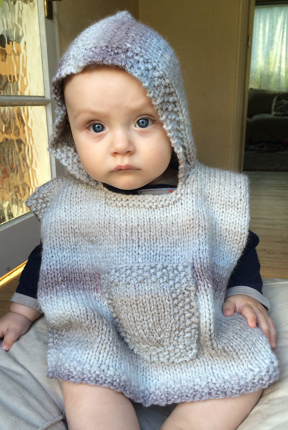 ponchos for babies and children knitting patterns