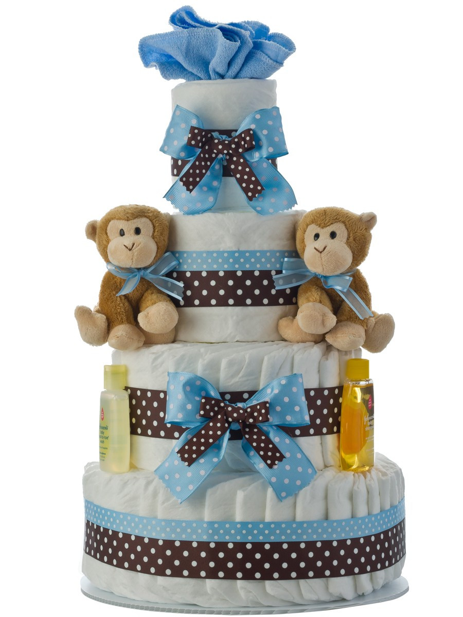 Baby Shower Diaper Cakes Best Of Twins Boys 4 Tier Diaper Cake Of Gorgeous 41 Ideas Baby Shower Diaper Cakes