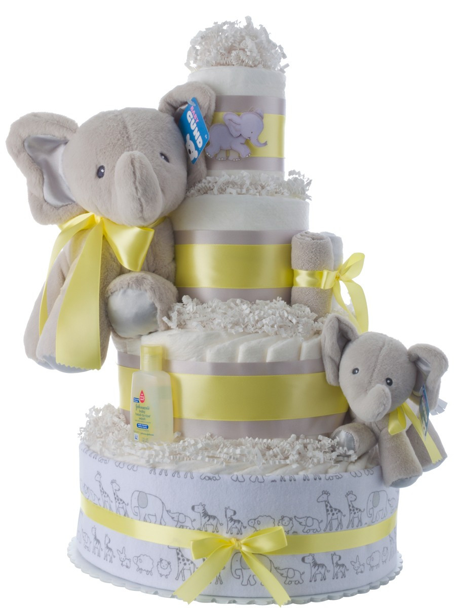 Baby Shower Diaper Cakes Fresh Lil Baby Elephant 4 Tier Diaper Cake Of Gorgeous 41 Ideas Baby Shower Diaper Cakes