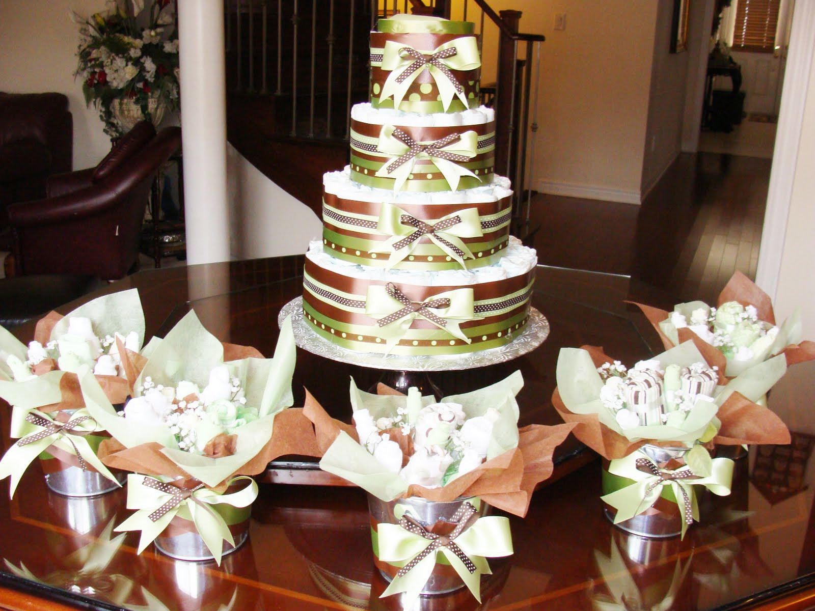 Finest Expressions Custom Baby Shower Diaper Cake and