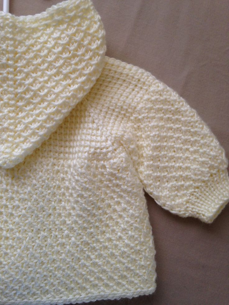 f White Cream Crochet Baby Girl Sweater with by