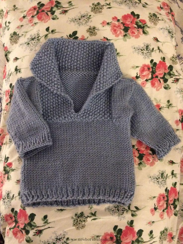 Baby Knitting Patterns Easy knit baby sweater This is