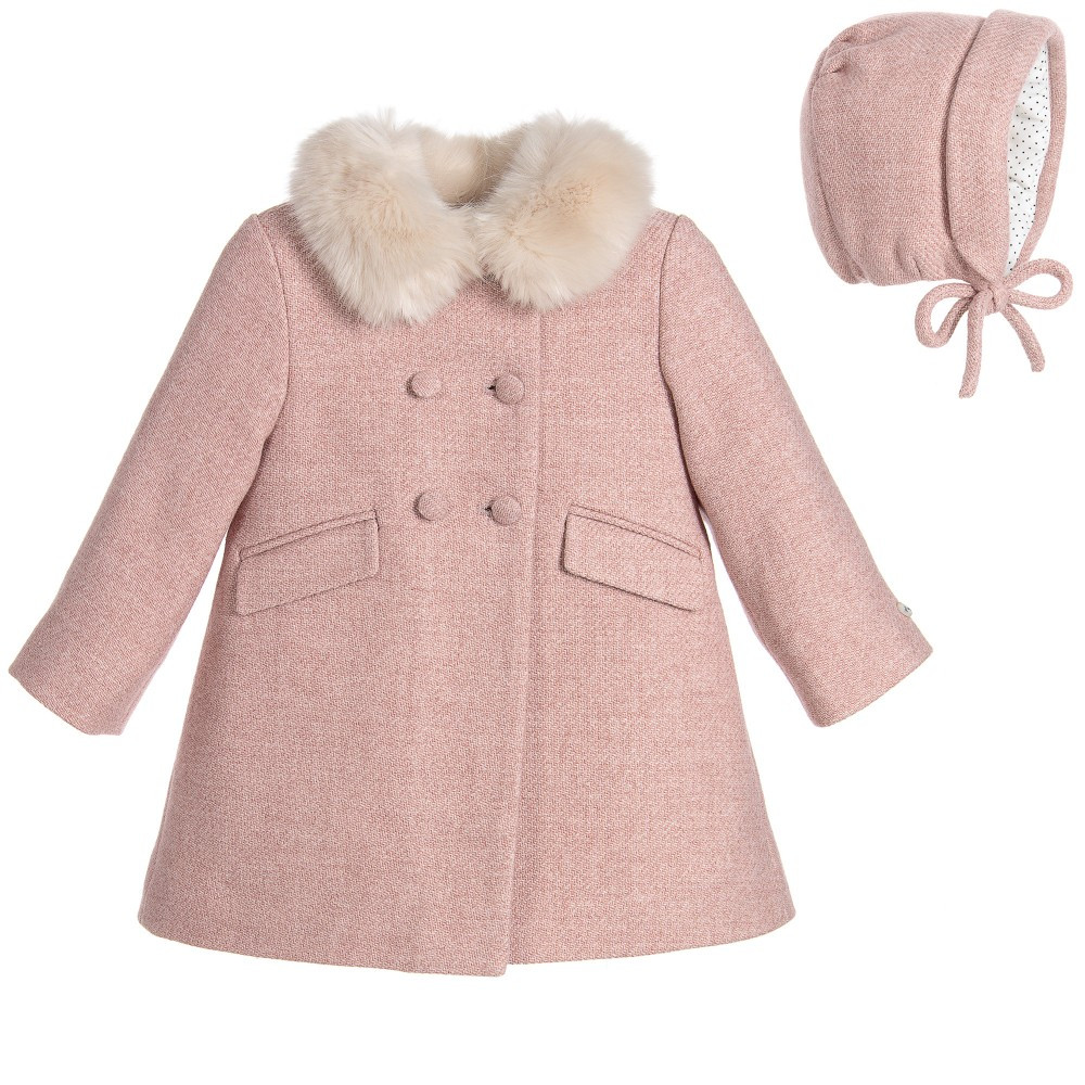 Baby Wool Best Of Nanos Baby Girls Pink Wool Coat & Hat Set Of Unique 47 Ideas Baby Wool