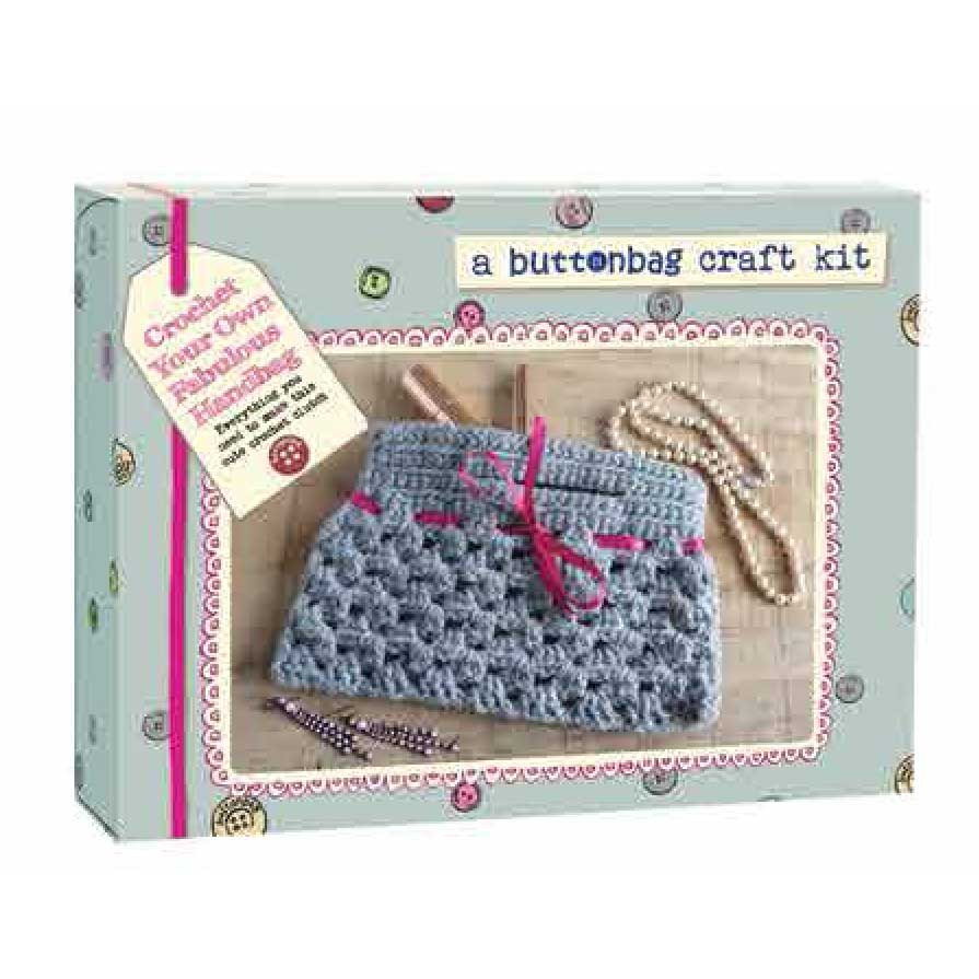 Button Bag Crochet a Handbag Kit