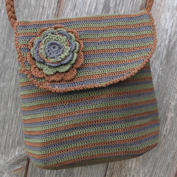 Bag for Crochet Supplies Unique Crochet Single Flower Bag Brown Green Abacc1 Of Fresh 48 Photos Bag for Crochet Supplies