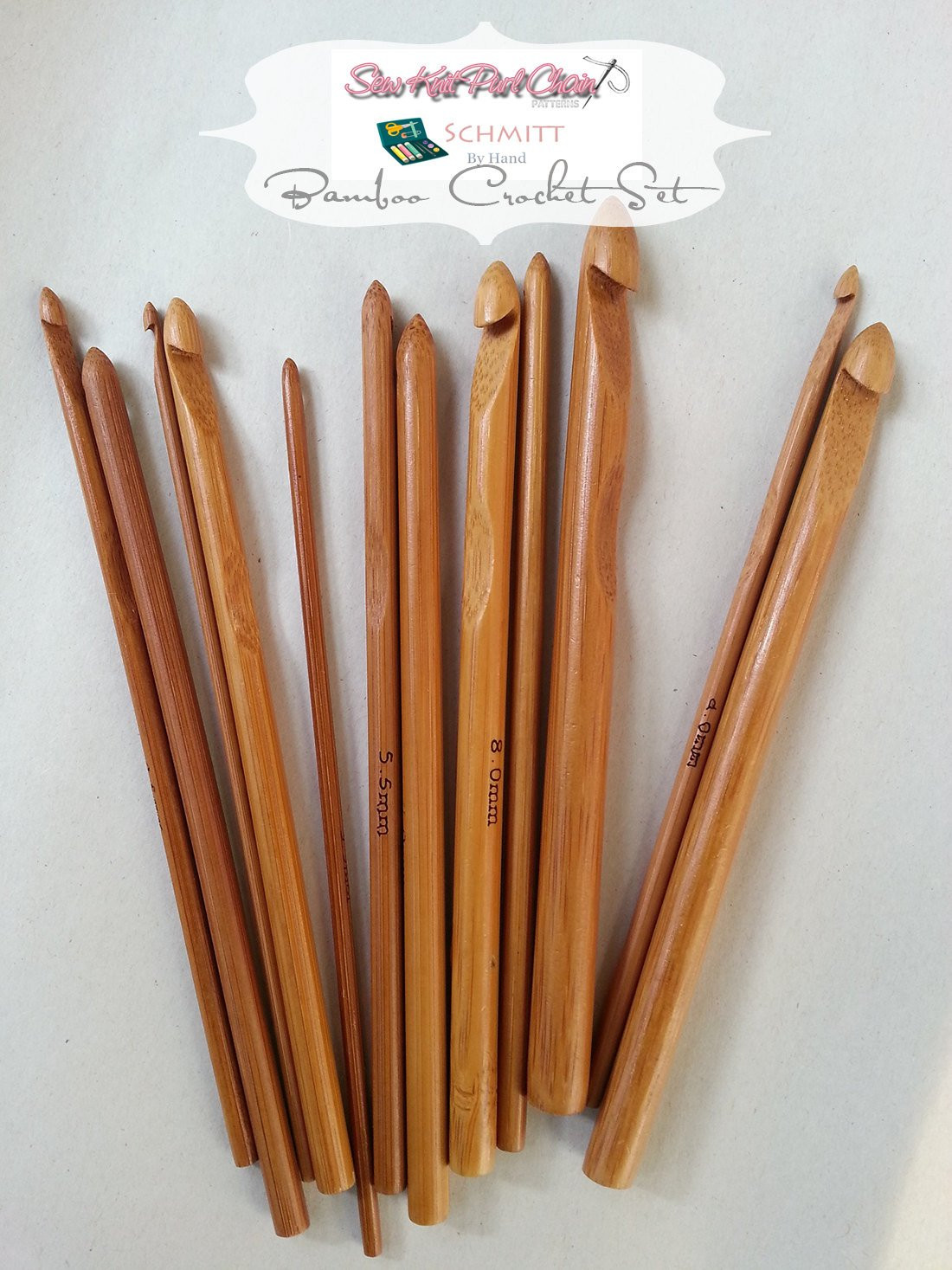 Bamboo Crochet Hooks New From Us Set Of 12 Bamboo Crochet Hooks From by Schmittbyhand Of Marvelous 46 Pics Bamboo Crochet Hooks