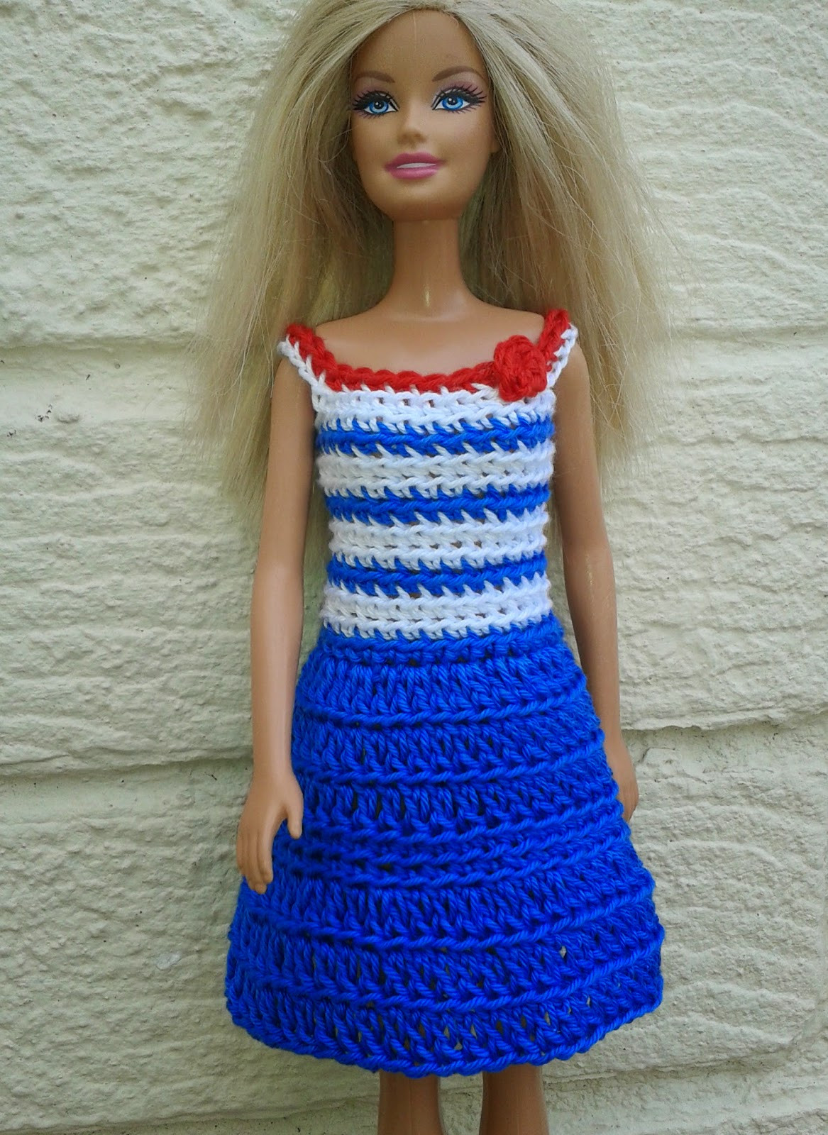 Barbie Clothes Patterns Beautiful Linmary Knits Barbie Crochet Nautical Dress Of Perfect 43 Ideas Barbie Clothes Patterns