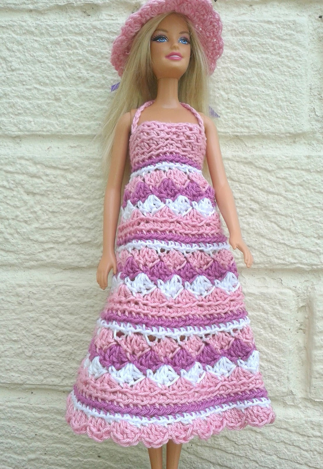 Linmary Knits Barbie crochet summer dress and hat