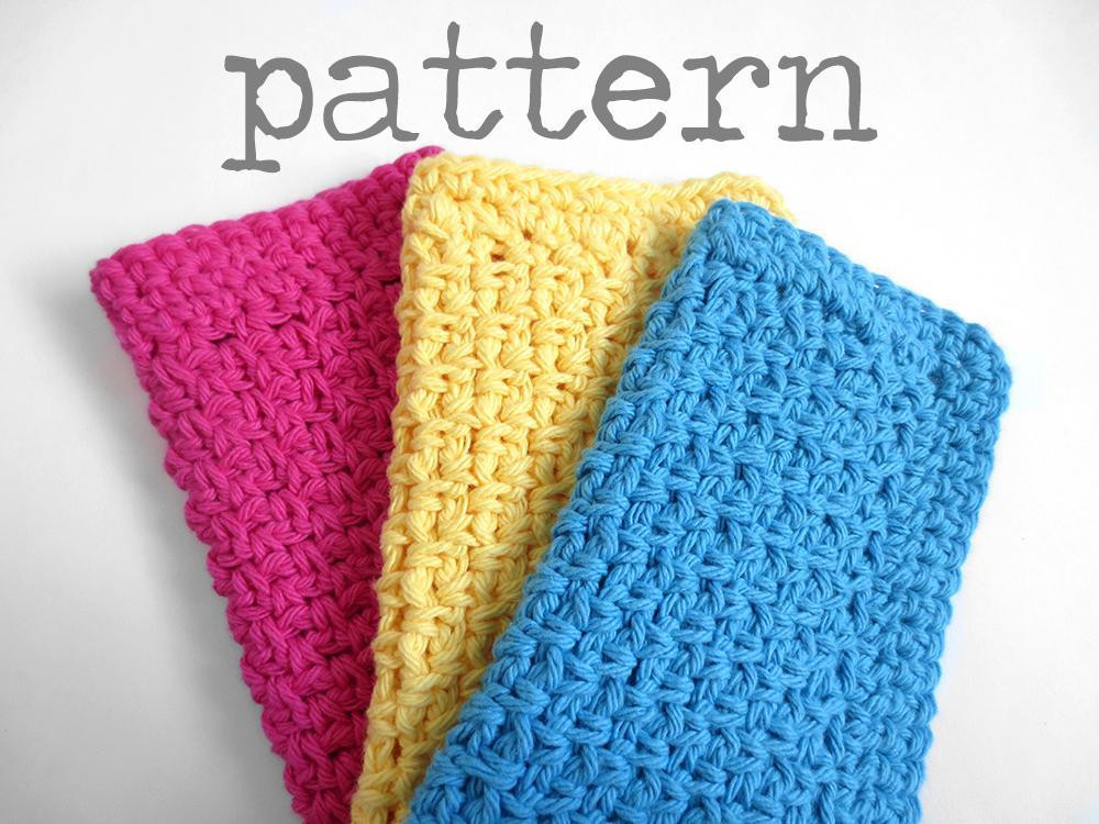 Basic Crochet Patterns Awesome Simple Dishcloth Crochet Pattern by Purplekissco Craftsy Of Amazing 47 Ideas Basic Crochet Patterns