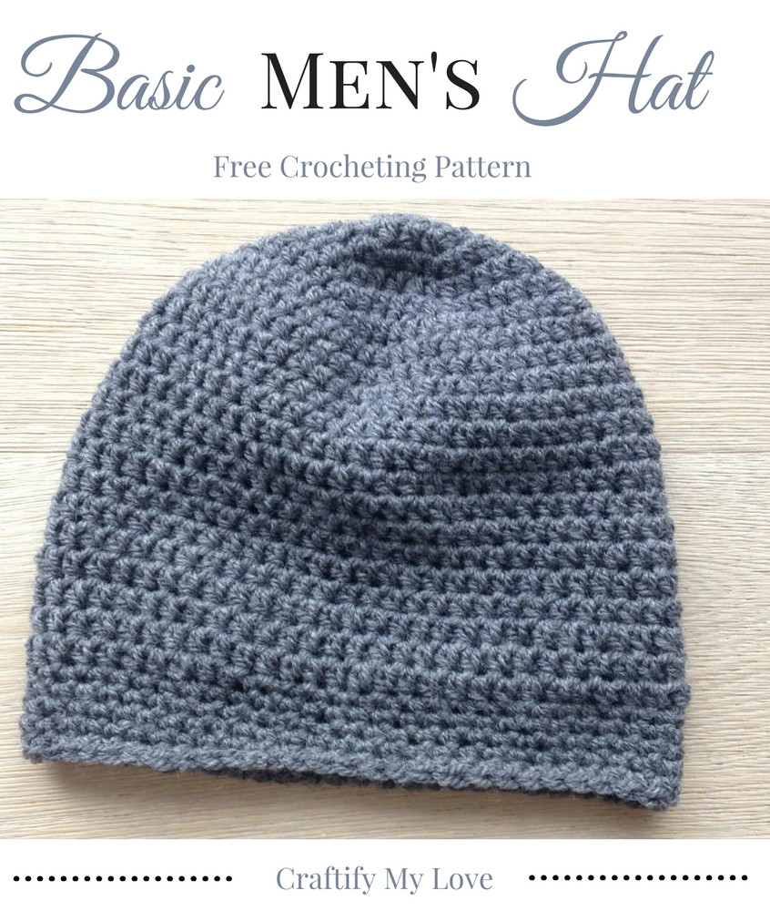 Basic Crochet Patterns Beautiful Basic Men S Hat Free Crocheting Pattern Of Amazing 47 Ideas Basic Crochet Patterns
