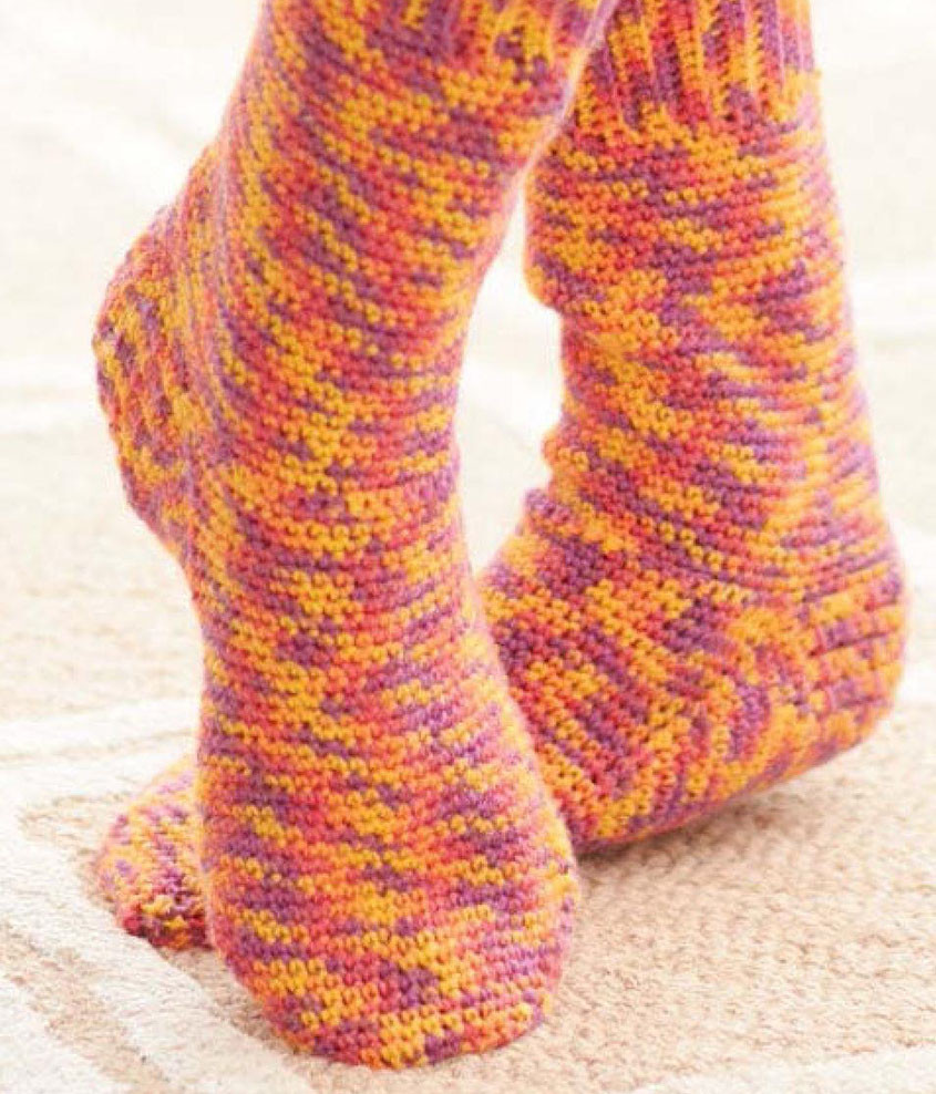 Basic crochet socks pattern