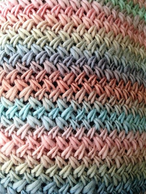 Basketweave Stitch An easy two row repeat Plus free
