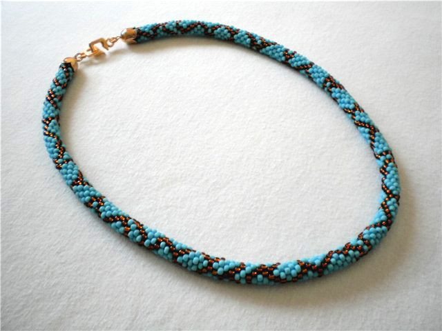 Bead Crochet Rope Fresh Free Pattern for Beaded Crochet Rope Blue Snake Of Attractive 50 Images Bead Crochet Rope