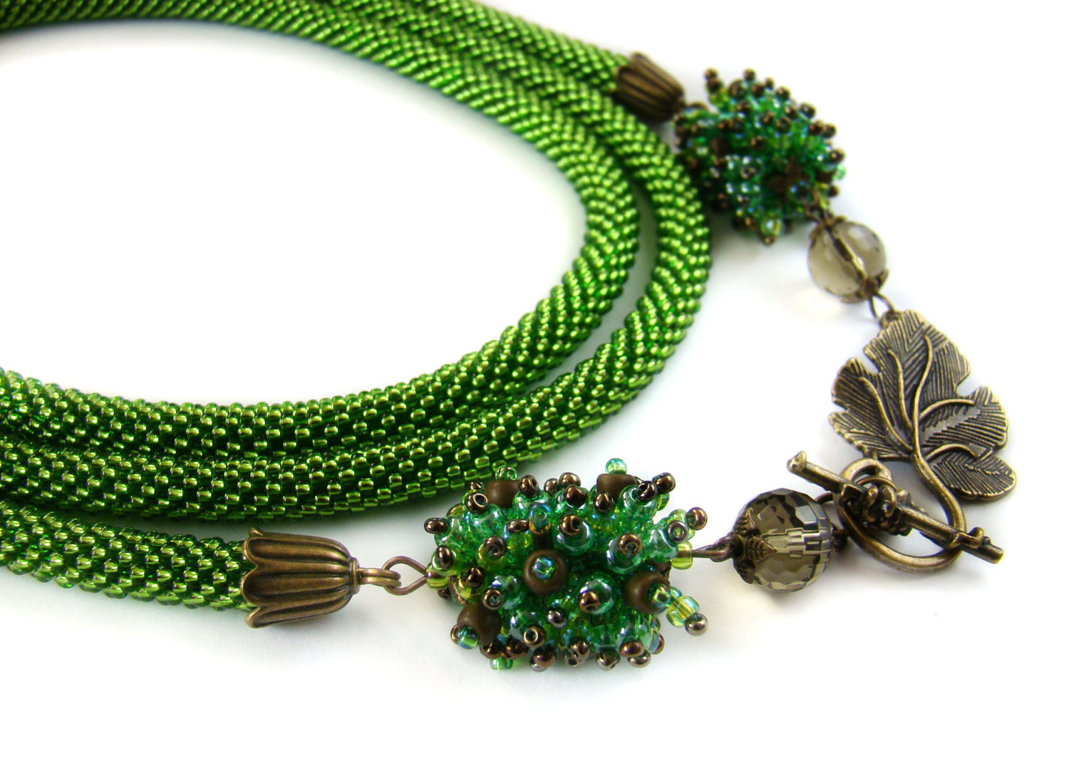 Bead Crochet Rope Lovely Green Beaded Crochet Lariat Necklace Long Crochet Bead Rope Of Attractive 50 Images Bead Crochet Rope